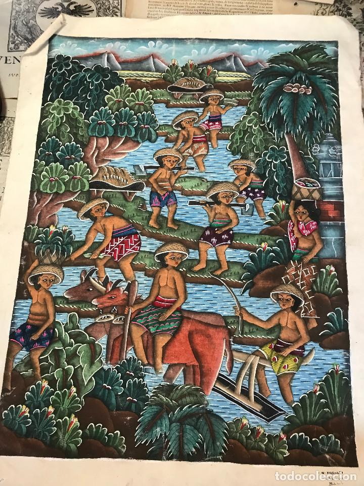 PINTURA NAIF DE LA ISLA DE BALI, EN INDONESIA. (Arte - Varios Objetos de Arte)
