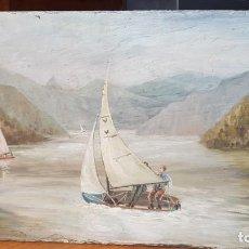 Varios objetos de Arte: PRECIOSA PINTURA SOBRE PIZARRA. Lote 143097718