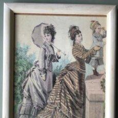 Varios objetos de Arte: LAMINA DE EPOCA ENMARCADA, CON LA INSCRIPCIÓN DUPUY, 22 R DES PETITS HOTELS, PARIS. Lote 143175762