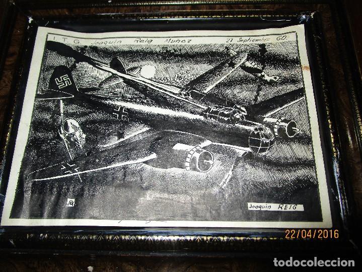 NAZI ALEMAN AVION GUERRA DIBUJO VIÑETA ORIGINAL PARA TEBEO ANTIGUO A PLUMILLA POR JOAQUIM REIG (Arte - Varios Objetos de Arte)