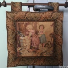 Varios objetos de Arte: ANTIGUO TAPIZ FRANCÉS, EN JACQUARD, SIGLO XIX, MUY BIEN CONSERVADO, 31X32CM. Lote 143806706