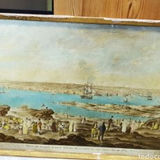 Varios objetos de Arte: CUADRO CON VISTA DEL PUERTO DE MAHON, SOBRE CARTÓN. Lote 144144800