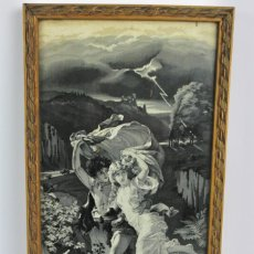 Varios objetos de Arte: D-38. ESCENA EN TELA DE JACQUARD ENMARCADA. MEDIADOS S.XX.. Lote 144243862