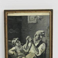 Varios objetos de Arte: D- 39. ESCENA EN TELA DE JACQUARD ENMARCADA. MEDIADOS S.XX.. Lote 144244162