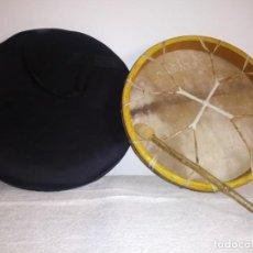 Varios objetos de Arte: TAMBOR CEREMONIAL , HECHO A MANO. Lote 144623718