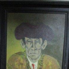 Varios objetos de Arte: FRASCUELO TORERO DEL SIGLO XIX PINTURA ANTIGUA OLEO FIRMADO POR IDENTIFICAR MUY ANTIGUO. Lote 109143583