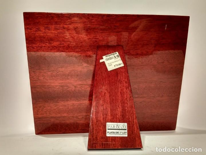 Varios objetos de Arte: Placa lisa medidas 130x90mm. fabricada en Plata de 1ª Ley del fabricante Far&Co sobre madera pulida - Foto 2 - 144842566