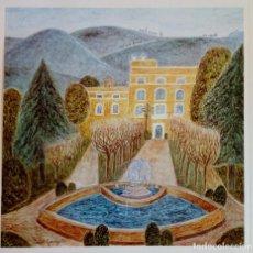 Varios objetos de Arte: LÁMINA ISABEL GARRIGA * JARDINS DE PEDRALBES * 1974 EXPO BARCELONA VISTA POR 10 PINTORAS 1975. Lote 145187554