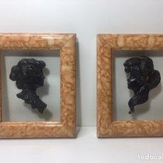 Varios objetos de Arte: CUADROS CON SILUETA DE MUJER EN RESINA IMITANDO BRONCE 22X19CM. Lote 145659330