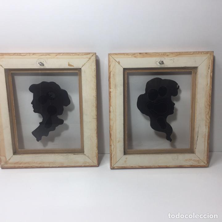 Varios objetos de Arte: Cuadros con silueta de mujer en resina imitando bronce 22x19cm - Foto 6 - 145659330