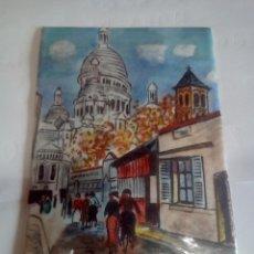 Varios objetos de Arte: CUADRO REALIZO EN CHAPA ESMALTADA AL FUEGO. Lote 145985722