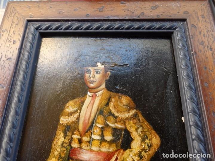 Varios objetos de Arte: ESPECTACULAR LOTE DE 6 TABLAS PINTADAS, MOTIVOS TAURINOS, MEDIDAS 19X31 CMS,VER IMAGENES - Foto 8 - 71169233
