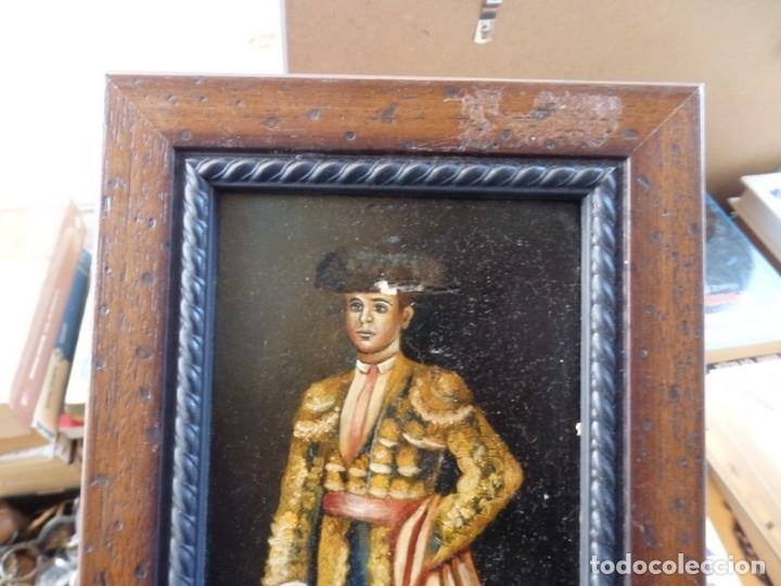 Varios objetos de Arte: ESPECTACULAR LOTE DE 6 TABLAS PINTADAS, MOTIVOS TAURINOS, MEDIDAS 19X31 CMS,VER IMAGENES - Foto 9 - 71169233