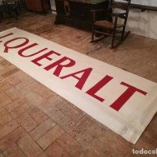 Varios objetos de Arte: CARTEL PANCARTA DE CALLE ROTULO LONA -BANNER CANVAS-EXPOSICION JAUME QUERALT AÑOS 90....REF-D. Lote 146138742