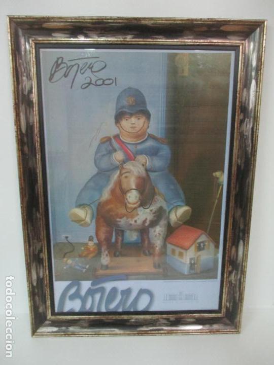POSTER - FERNANDO BOTERO - MUSEO DE ANTIOQUIA, MEDELLIN, COLOMBIA -FIRMA ORIGINAL BOTERO 2001 (Arte - Varios Objetos de Arte)
