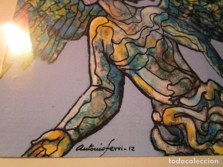 Varios objetos de Arte: ANTIGUAS 2 TARJETAS DEL PINTOR ANTONIO FERRI VALENCIA - Foto 5 - 146433482