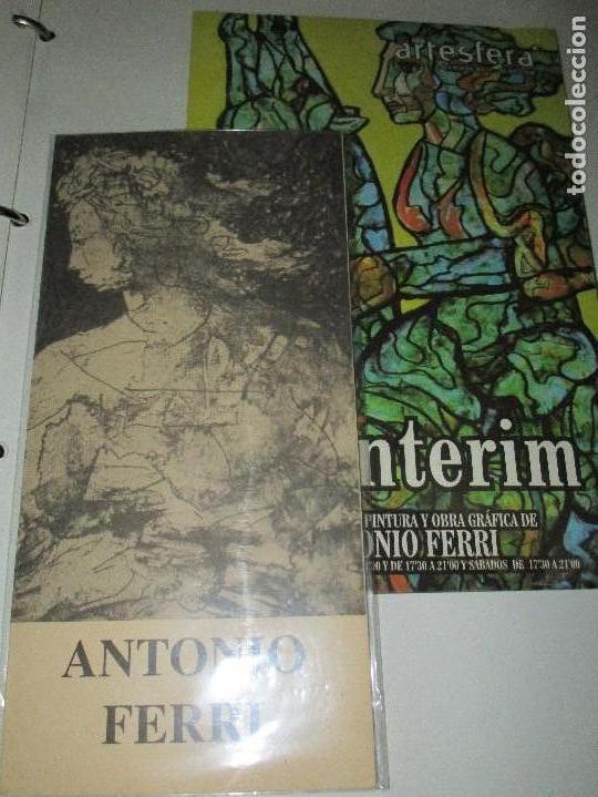 ANTONIO FERRI PINTOR VALENCIA PAREJA DE CATALOGOS DE EXPOSICION ONTENIENTE Y BENIDORM (Arte - Varios Objetos de Arte)