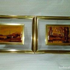 Varios objetos de Arte: DOS CUADROS CON RELIEVE. Lote 147069046