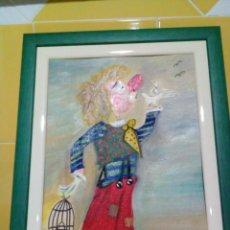 Varios objetos de Arte: DOS CUADROS INFANTILES. Lote 147092282