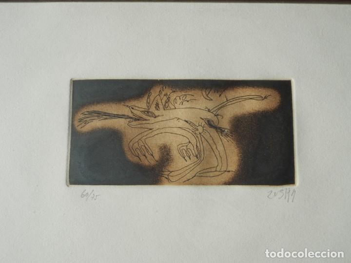 Varios objetos de Arte: Zush. 1.UROXOS,libro de artista,colección limitada,numerada,firmada y enriquecida a mano. 2.Grabado - Foto 2 - 147296838
