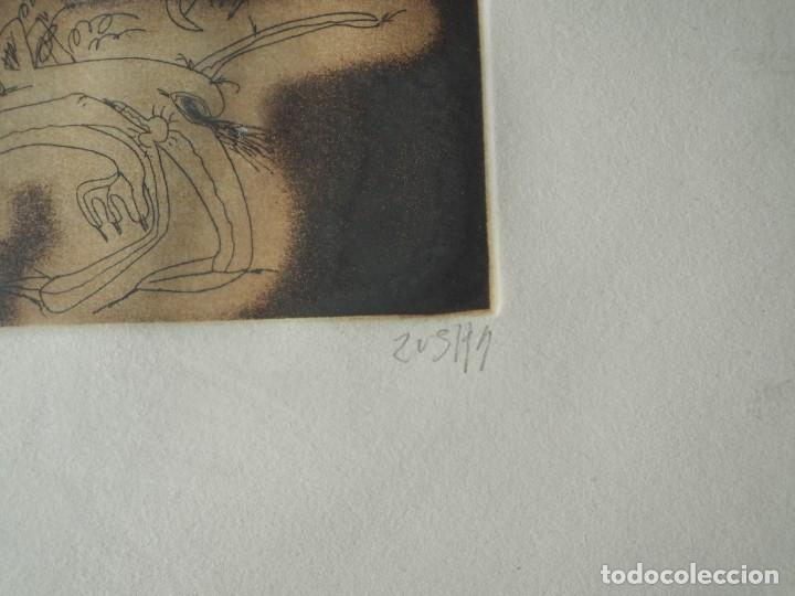 Varios objetos de Arte: Zush. 1.UROXOS,libro de artista,colección limitada,numerada,firmada y enriquecida a mano. 2.Grabado - Foto 4 - 147296838