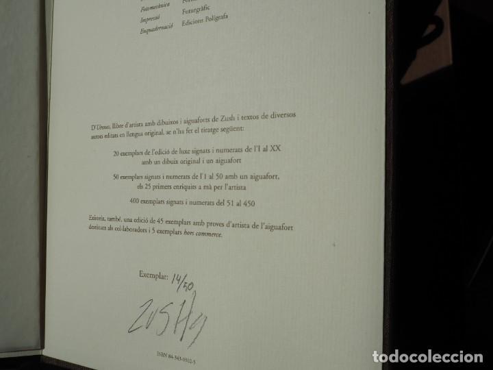 Varios objetos de Arte: Zush. 1.UROXOS,libro de artista,colección limitada,numerada,firmada y enriquecida a mano. 2.Grabado - Foto 7 - 147296838