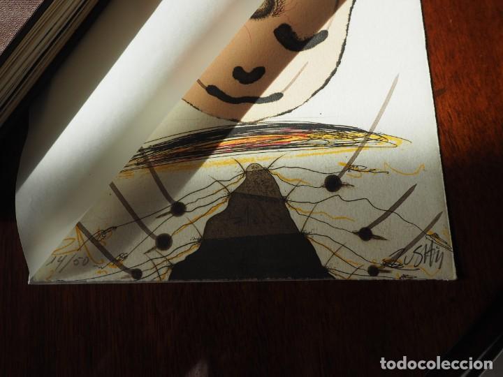 Varios objetos de Arte: Zush. 1.UROXOS,libro de artista,colección limitada,numerada,firmada y enriquecida a mano. 2.Grabado - Foto 12 - 147296838