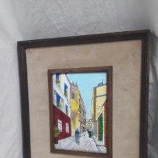 Varios objetos de Arte: MARAVILLOSO CUADRO ESMALTE AL FUEGO ENMARCADO MAURICE UTRILLO. Lote 147410806