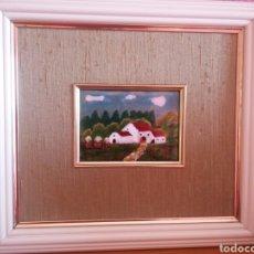 Varios objetos de Arte: CUADRO ESMALTE PINTADO A MANO, ENMARCADO. Lote 147446520