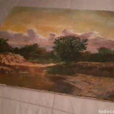 Varios objetos de Arte: CUADRO PAISAJE AL OLEO FIRMADO CABELLO. Lote 147630938