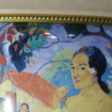 Varios objetos de Arte: CUADRO EN ESMALTE DEL PINTOR GAUGUIN. Lote 147712220