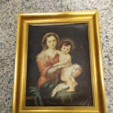 Varios objetos de Arte: SERIGRAFIA DE MURILLO EN ESPONJA. Lote 147731589