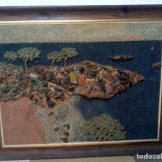 Varios objetos de Arte: COMPOSICIÓN MIXTA DE MARMOLINA Y ROCAS NATURALES. FIRMADO J M.. Lote 148014034