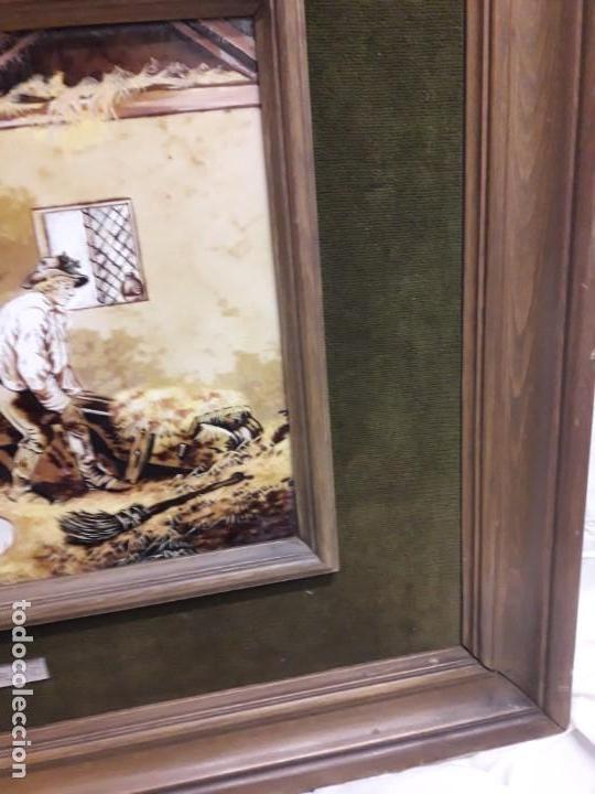Varios objetos de Arte: Espectacular gran bello cuadro pintura sobre azulejos Caballos en un establo George Morland 75x65cm - Foto 13 - 148032942
