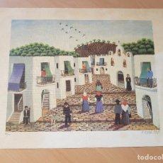 Varios objetos de Arte: ARTE NAIF OSCAR BORRAS AUSIAS NUMERADA Y FIRMADA . Lote 148406866