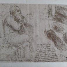 Varios objetos de Arte: LEONARDO DA VINCI EN LA BIBLIOTECA REAL DEL CASTILLO DE WINDSOR - CARTEL. Lote 148767706