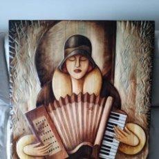 Varios objetos de Arte: CUADRO TALLADO EN MADERA. Lote 149161610