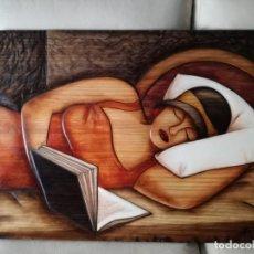 Varios objetos de Arte: CUADRO DE MADERA TALLADO A MANO. Lote 149165262