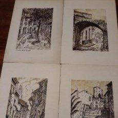 Varios objetos de Arte: PINTURA TINTA CHINA DE PAISAJES O RINCONES TIPICOS DE ELDA CON FIRMA AÑO 1989. Lote 149330198