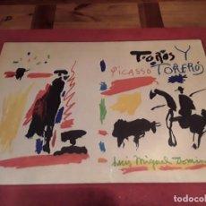 Varios objetos de Arte: PICASSO, SERIE TOROS Y TOREROS, EN TELA, ENMARCADO CASOLA.70X51. Lote 149564722