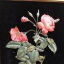 Varios objetos de Arte: PAREJA DE CUADROS EN TRES DIMENSIONES, ROSAS, EXQUISITO DETALLE. Lote 150280978