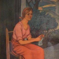 Varios objetos de Arte: ANTIGUO CUADRO JOSE ARRUE ESMALTADO ESCENA TIPICA PAIS VASCO ESMALTE BUEN ESTADO EUSKADI BASQUE. Lote 151335798