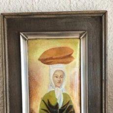 Varios objetos de Arte: ESMALTE ENMARCADO EN PLATA DE LEY Y MADERA. PABLO PICASSO 1960'S. CONTRASTE. . Lote 151400854
