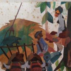 Varios objetos de Arte: ANTIGUO Y RARO CUADRO ARTE VASCO TECNICA MIXTA BASERRITARRAK FIRMADO AGUIRRE PAIS VASCO BASQUE. Lote 151554206