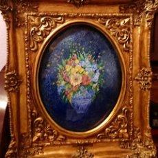 Varios objetos de Arte: JULIA ARES.REPRODUCCION OLEO ESMALTADO BOUQUET( BODEGON) KANDINSKY.. Lote 151637742