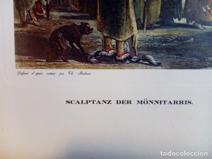 Varios objetos de Arte: Lámina Danse du scalp des indiens Meunitarris BODMER SXIX - Foto 2 - 151890870