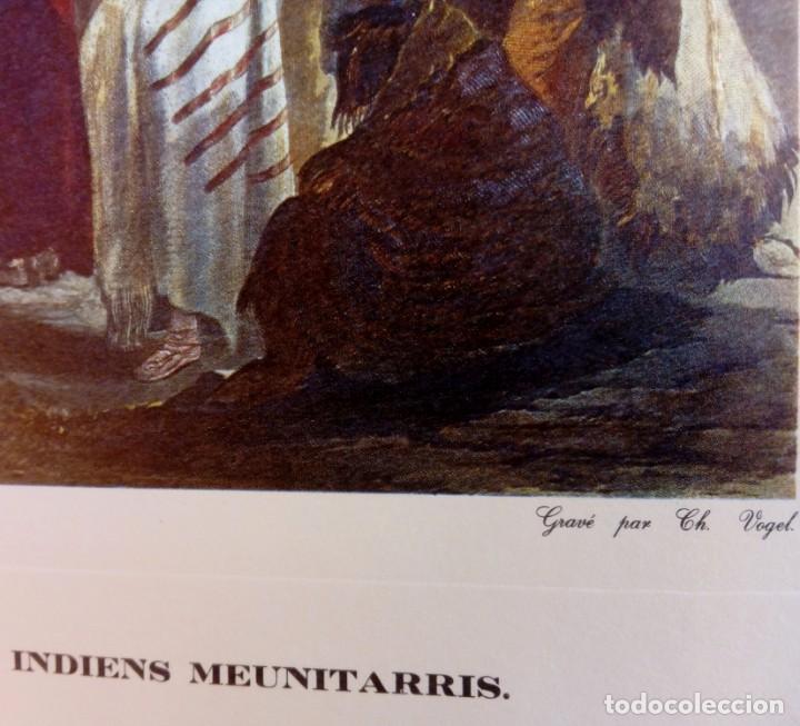 Varios objetos de Arte: Lámina Danse du scalp des indiens Meunitarris BODMER SXIX - Foto 3 - 151890870