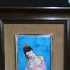 Varios objetos de Arte: ESMALTE CON REPRODUCCIÓN MATERNIDAD 1901 PICASSO.. Lote 151977014