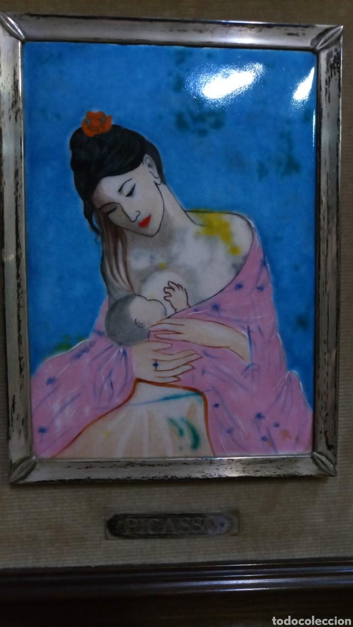 Varios objetos de Arte: Esmalte con reproducción Maternidad 1901 Picasso. - Foto 2 - 151977014