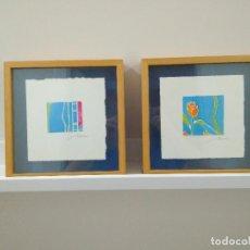 Varios objetos de Arte: TULIPANES. PAREJA DE CUADROS. PROCEDENTE DE GALERÍA. TÉCNICA MIXTA. Lote 152032970